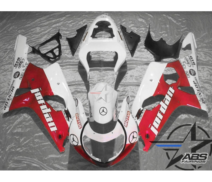 ABS Fairings Red Jordan - 00-02' GSXR 1000