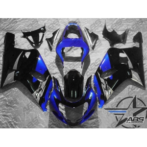 ABS FAirings Blue, Black & Silver - 01-03' GSXR 600/750