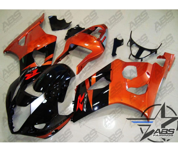 ABS Fairings Burnt Orange & Black - 03-04' GSXR 1000