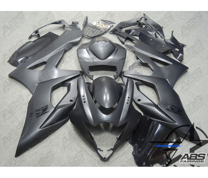 ABS Fairings Black on Black - 05-06' GSXR 1000