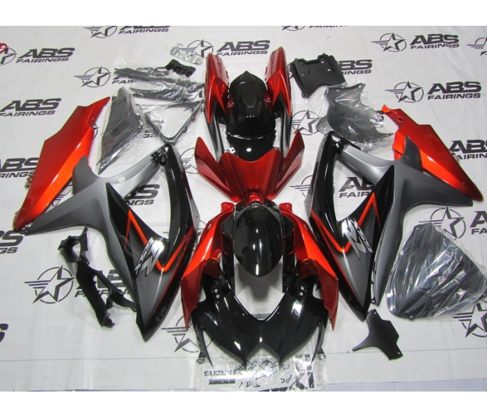ABS Fairings OEM Style Black & Orange - 08-10' GSXR 600/750