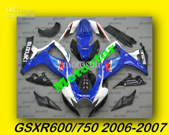 Blue/Silver ABS Fairing Set K6 - Suzuki GSXR600/750 2006-2007