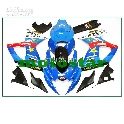 Blue/Red/Black ABS Fairing Set K6 - Suzuki GSXR600/750 2006-2007