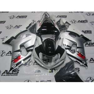 ABS FAirings OEM Style White & Silver - 01-03' GSXR 600/750
