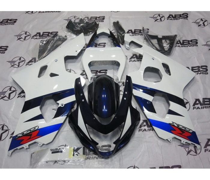ABS Fairings OEM Style White & Blue - 04-05' GSXR 600/750