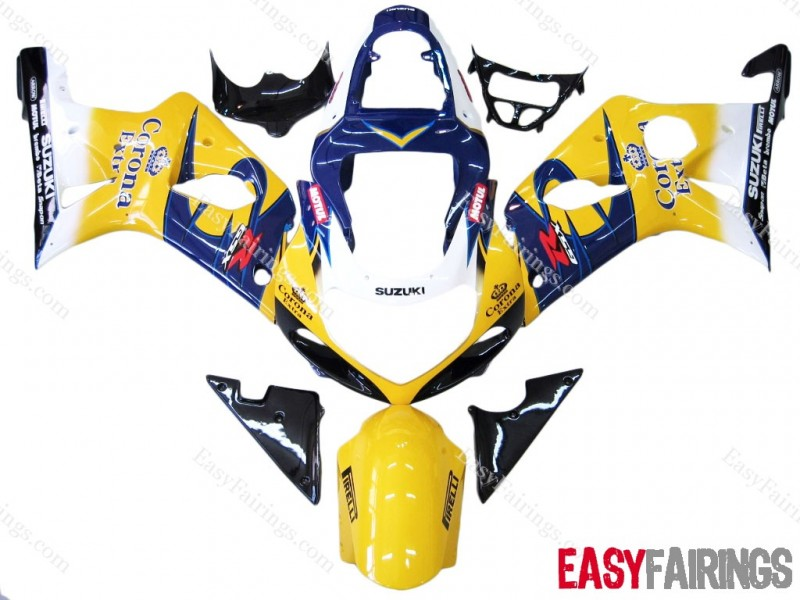 Easy Fairings 2000-2003 Suzuki GSXR 600 & GSX-R750 Fairings: Corona Racing (00, 01, 02, 03)