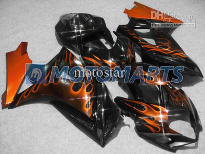 Orange Flame ABS Fairing Set K7 - Suzuki GSXR1000 2007-2008