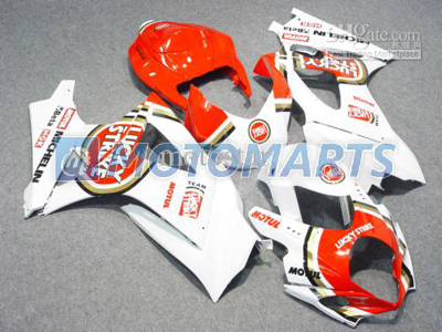 Orange Lucky Strike ABS Fairing Set K7 - Suzuki GSXR1000 2007-2008