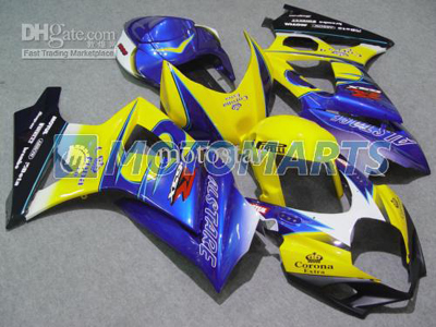 Blue/Yellow ABS Fairing Set K7 - Suzuki GSXR1000 2007-2008