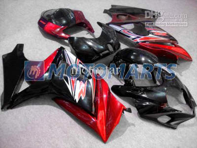 Red/Black ABS Fairing Set K7 - Suzuki GSXR1000 2007-2008