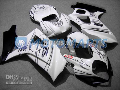 White/Black ABS Fairing Set K7 - Suzuki GSXR1000 2007-2008