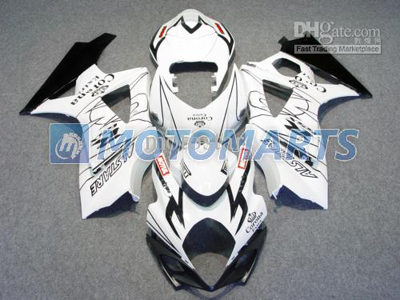 Black/White ABS Fairing Set K7 - Suzuki GSXR1000 2007-2008