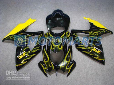 Yellow Flame ABS Fairing Set K6 - Suzuki GSXR600/750 2006-2007
