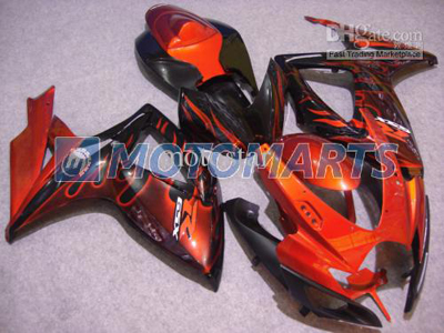 Orange Flame ABS Fairing Set K6 - Suzuki GSXR600/750 2006-2007
