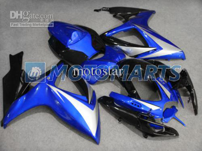 Black/Blue/Silver ABS Fairing Set K6 - GSXR600/750 2006-2007