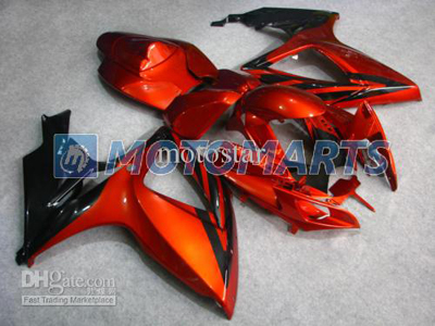 Orange/Black ABS Fairing Set K6 - Suzuki GSXR600/750 2006-2007