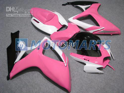 Pink/White ABS Fairing Set K6 - Suzuki GSXR 600/750 2006-2007