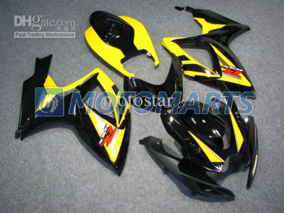 Yellow/Black ABS Fairing Set K6 - Suzuki GSXR600/750 2006-2007