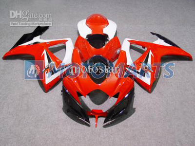 Red/White/Black ABS Fairing Set K6 - Suzuki GSXR600/750 2006-2007