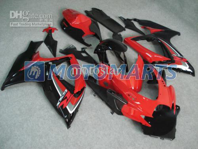Red/Black ABS Fairing Set K6 - Suzuki GSXR600/750 2006-2007