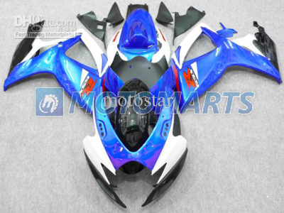 Blue/White ABS Fairing Set K6 - Suzuki GSXR600/750 2006-2007