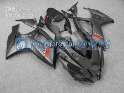 Matte Black ABS Fairing Set K6 - Suzuki GSXR600/750 2006-2007