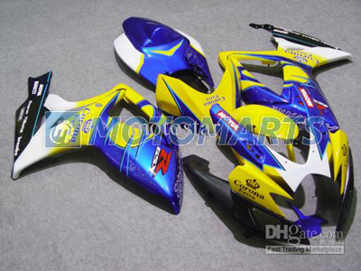 Yellow/Blue ABS Fairing Set K6 - Suzuki GSXR600/750 2006-2007