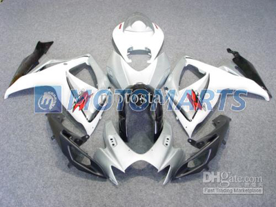 Silver/White ABS Fairing Set K6 - Suzuki GSXR600/750 2006-2007