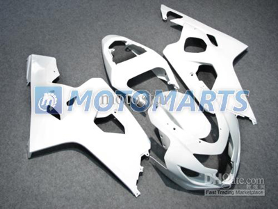 Pure White ABS Fairing Set K4 - Suzuki GSXR600/750 2004-2005