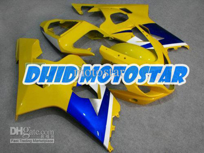 Yellow/Blue ABS Fairing Set K4 - Suzuki GSXR600/750 2004-2005