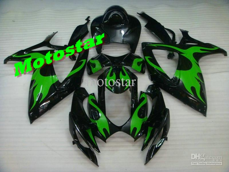Green Flame ABS Fairing Set K6 - Suzuki GSXR600/750 2006-2007