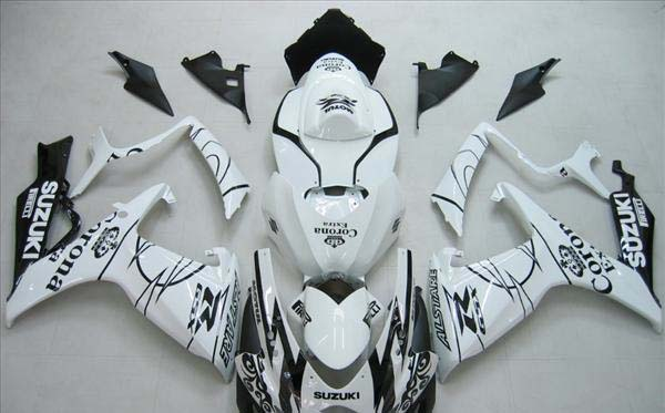 White Corona Fairing Set 23pc - Suzuki GSXR 600/750 2006-2007