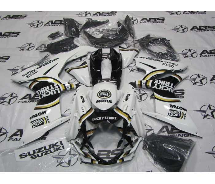 ABS Fairings Black Lucky Strike - 11-13' GSXR 600/750