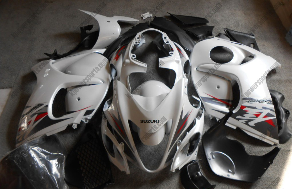 White ABS 24pc Fairing Set - Suzuki GSXR 1300 2008-2013