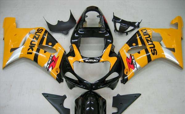 Yellow/Black Fairing Set 9pc - Suzuki GSXR 600 2001-2003