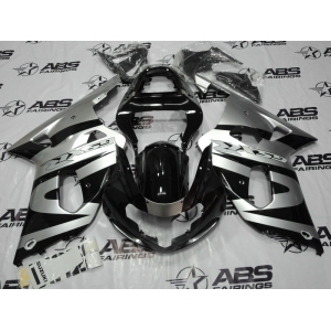 ABS Fairings Silver & Black 9pc Fairing Set - Suzuki GSXR 600/750 2000-2003