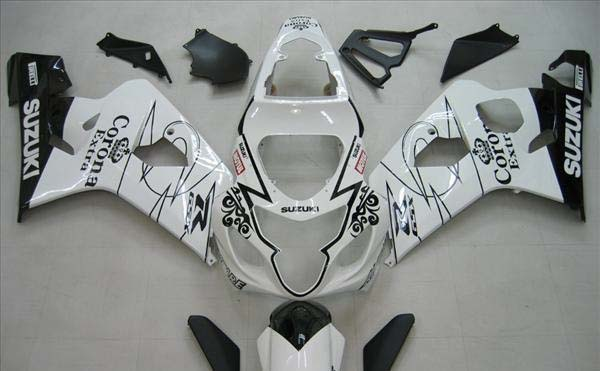 White Corona Fairing Set 10pc - Suzuki GSXR 600/750 2004-2005
