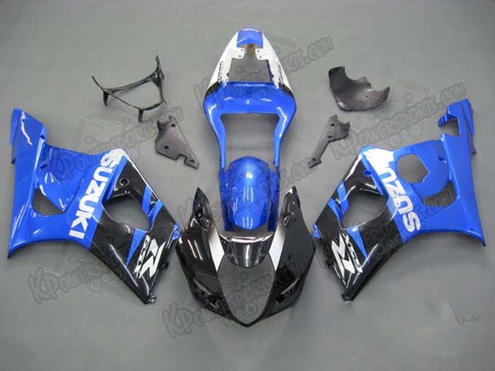 ABS Fairings Blue/Black Fairing Set 9pc - Suzuki GSXR 1000 2003-2004