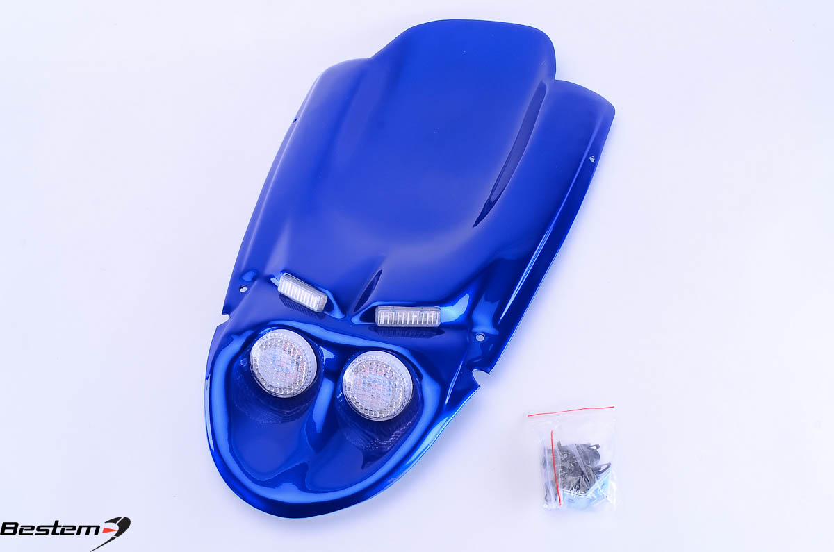 Bestem Suzuki GSXR 600(01-03)/750(00-03)/1000(01-02) Undertail,Blue,4 Lights