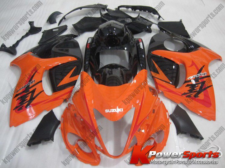 ABS Fairings Orange & Black 24pc Fairing Set - Suzuki GSXR 1300 2008-2013