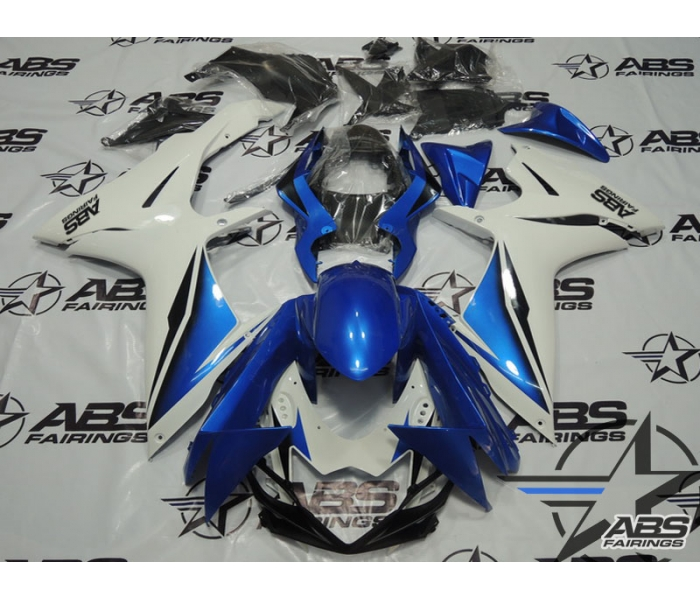 ABS Fairings Blue & White - 11-13' GSXR 600/750