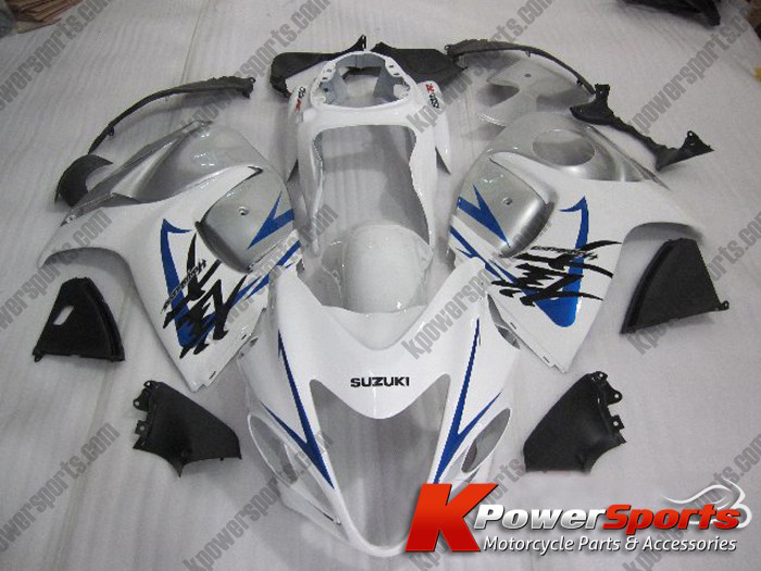 White & Blue ABS 24pc Fairing Set - Suzuki GSXR 1300 2008-2009