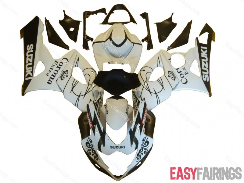 Easy Fairings 2005-2006 Suzuki GSXR 1000 Fairings: White Corona Racing (05, 06)