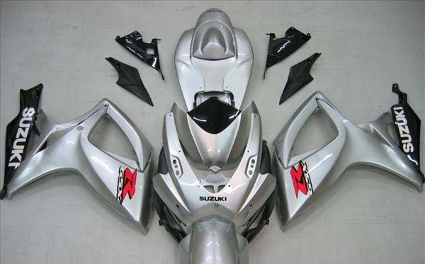 Silver Fairing Set 23pc - Suzuki GSXR 600/750 2006-2007