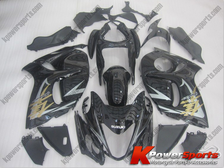 Black ABS 24pc Fairing Set - Suzuki GSXR 1300 2008-2009
