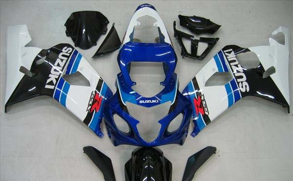 Blue/White/Black Fairing Set 10pc - Suzuki GSXR 600/750 2004-2005