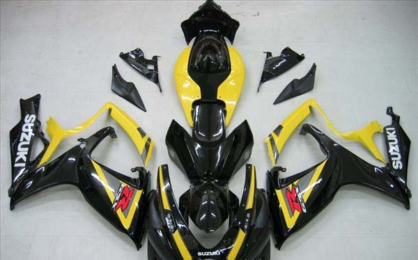 Black/Yellow Fairing Set 23pc - Suzuki GSXR 600/750 2006-2007
