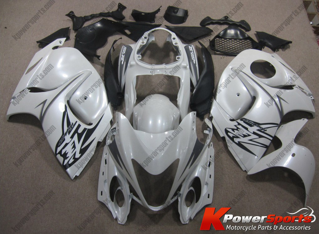 White ABS 24pc Fairing Set - Suzuki GSXR 1300 2008-2009