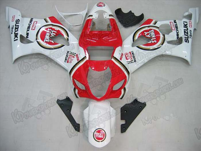 ABS Fairings Lucky Strike Fairing Set 9pc - Suzuki GSXR 1000 2003-2004