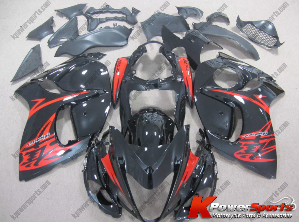 Black & Red ABS 24pc Fairing Set - Suzuki GSXR 1300 2008-2013
